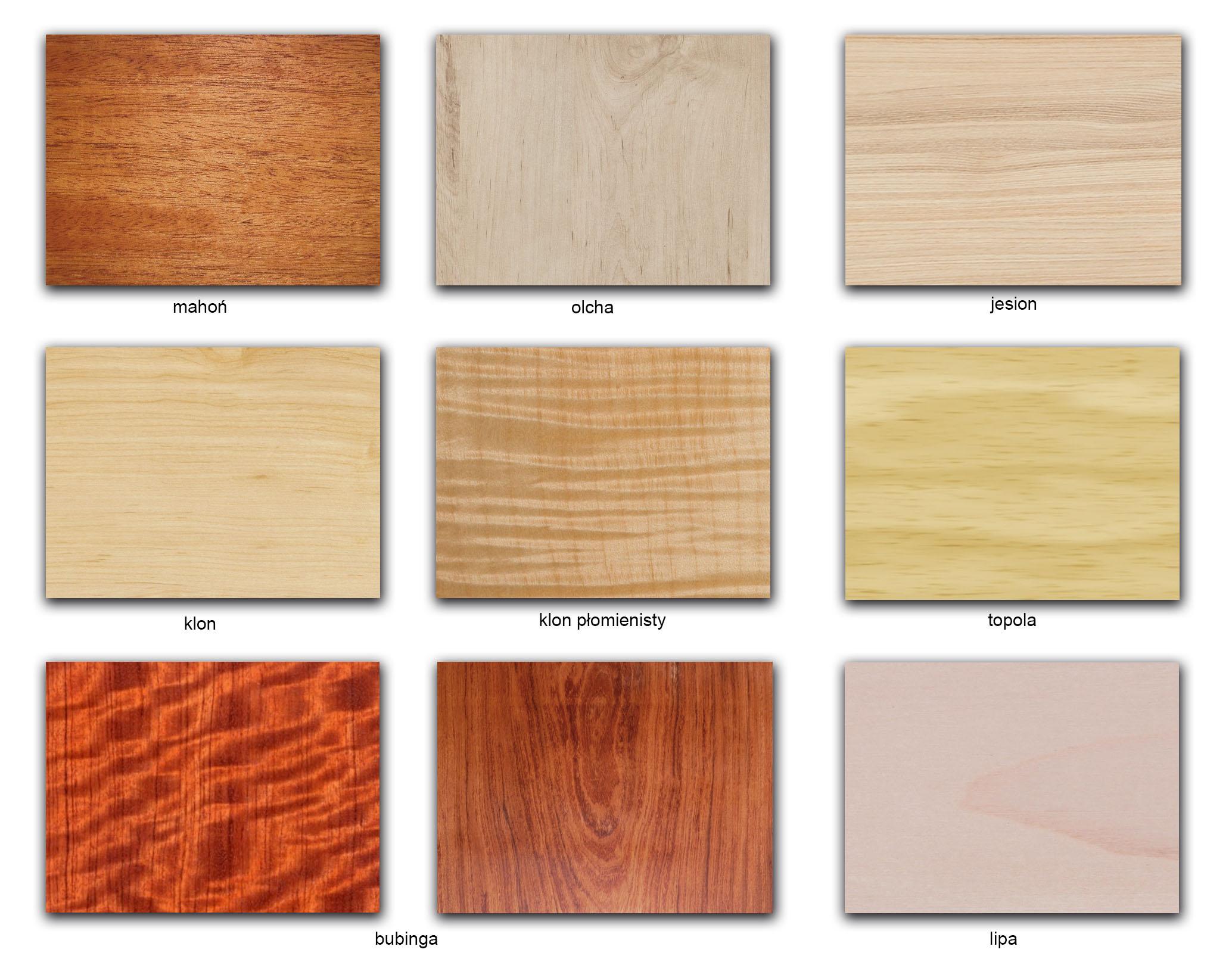 drewno_rodzaje